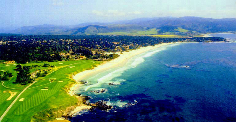 Carmel-by-the-Sea Beach and Pebble Beach Golf Course California