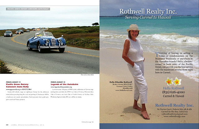 Rothwell Realty Inc. ad in Carmel Magazine