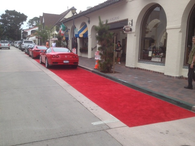 Red Carpet parking in Carmel-by-the-Sea during Concours Week