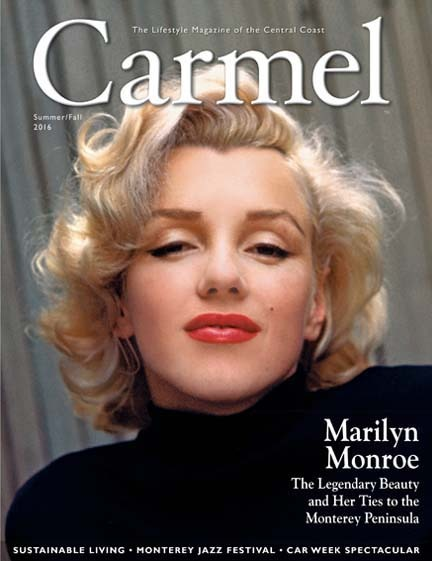 Marilyn Monroe on cover of Carmel Magazine with Rothwell Realty Inc. ad