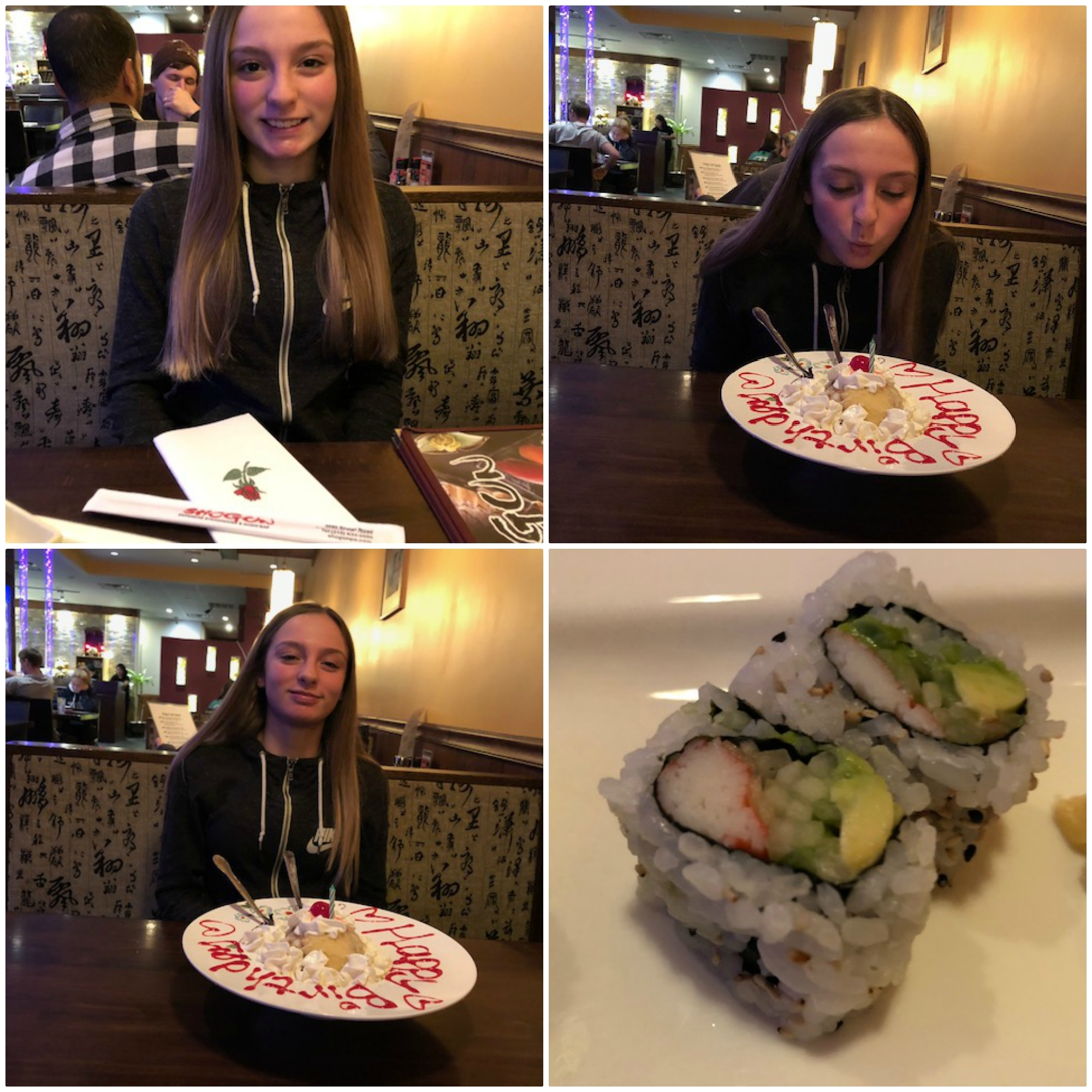 Happy Birthday Alexis Tinelli Great Quality Time & California Rolls