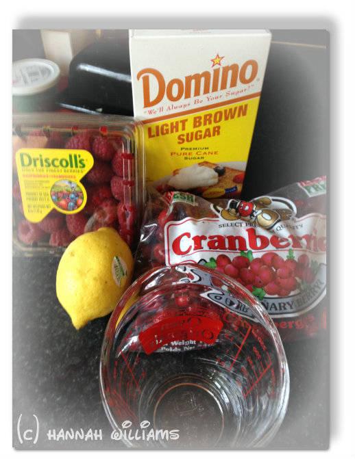 homemade cranberry raspberry sauce