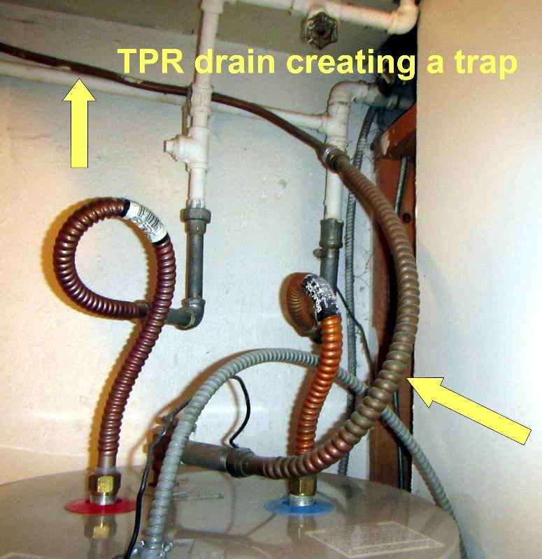 Trapped TPR drain
