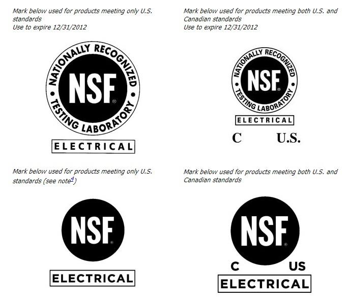NSF Label Marks