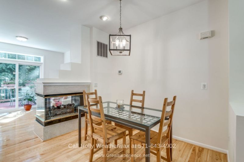 Hawthorne Reston VA Real Estate Properties for Sale - The open floor layout of this Reston VA townhome is ideal for entertaining.