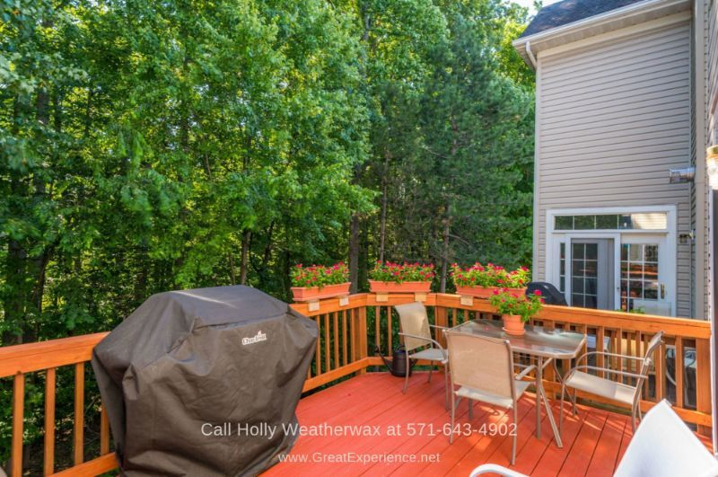 Reston VA Townhomes for Sale - Relaxing and entertaining are easy on the deck of this Reston VA townhome for sale.