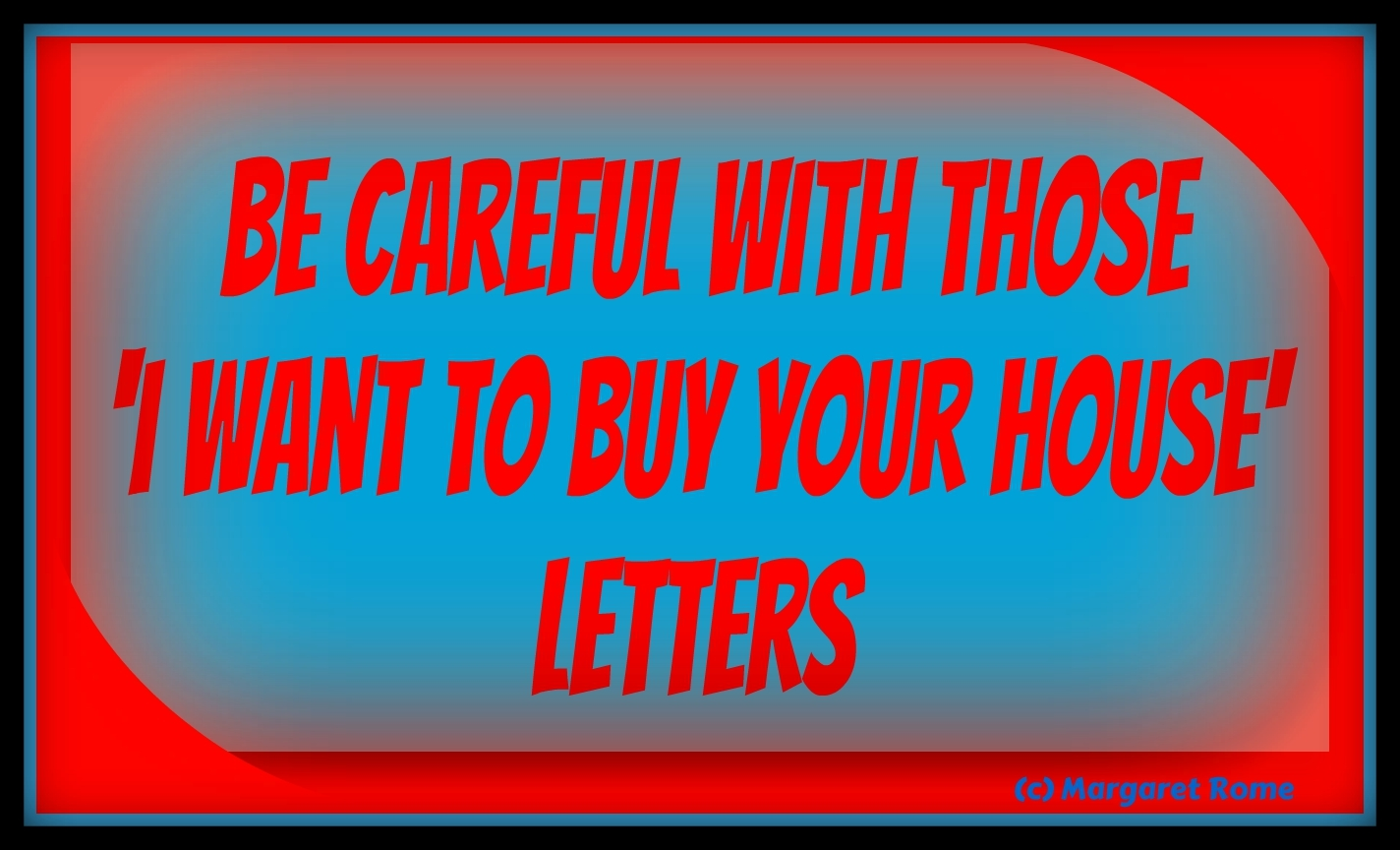 Buy your house letters SCAM
