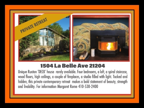 La Belle Front and Fireplace