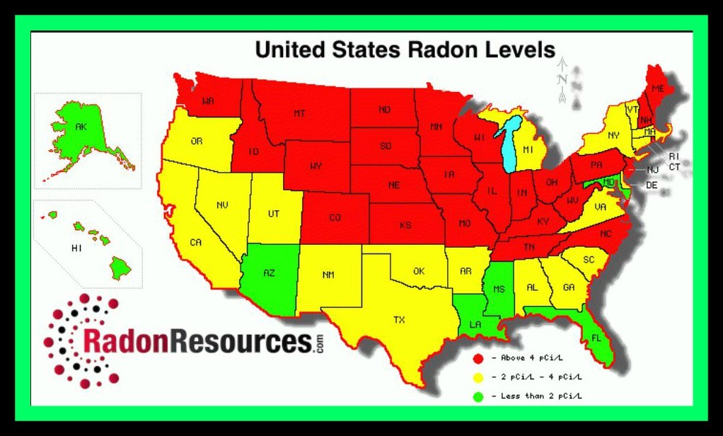 If You Are Concerned Get It Tested For Radon - Radon map maryland
