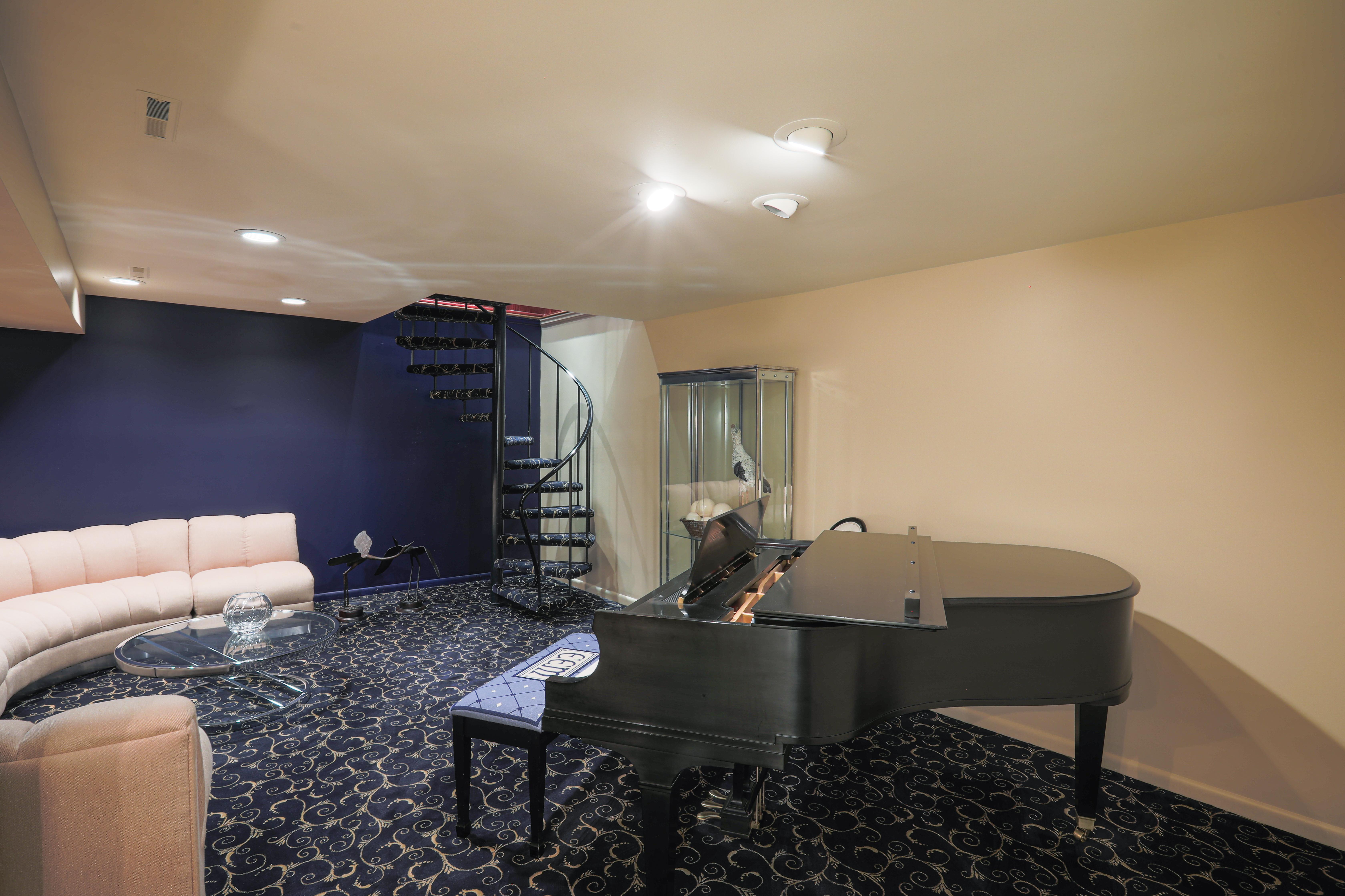 piano media room Burdock