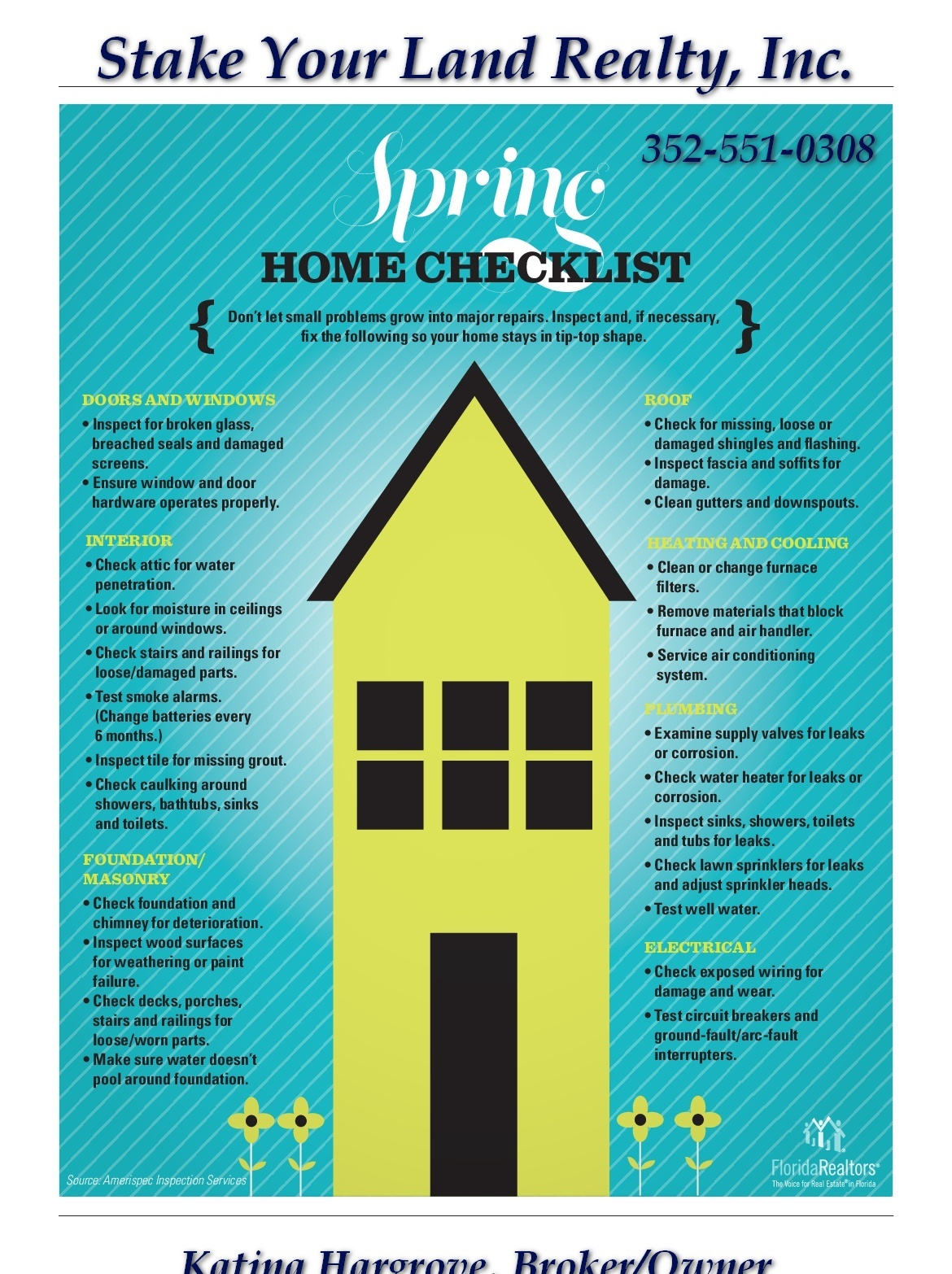 Spring Home Check List Wiring Materials