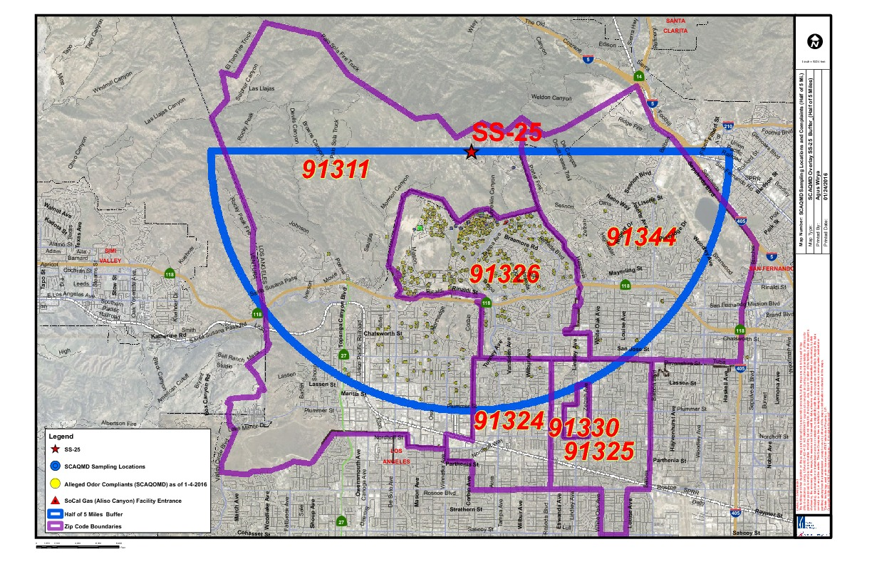 Porter Ranch Gas Leak And How It Affects Housing Values - Los angeles map porter ranch
