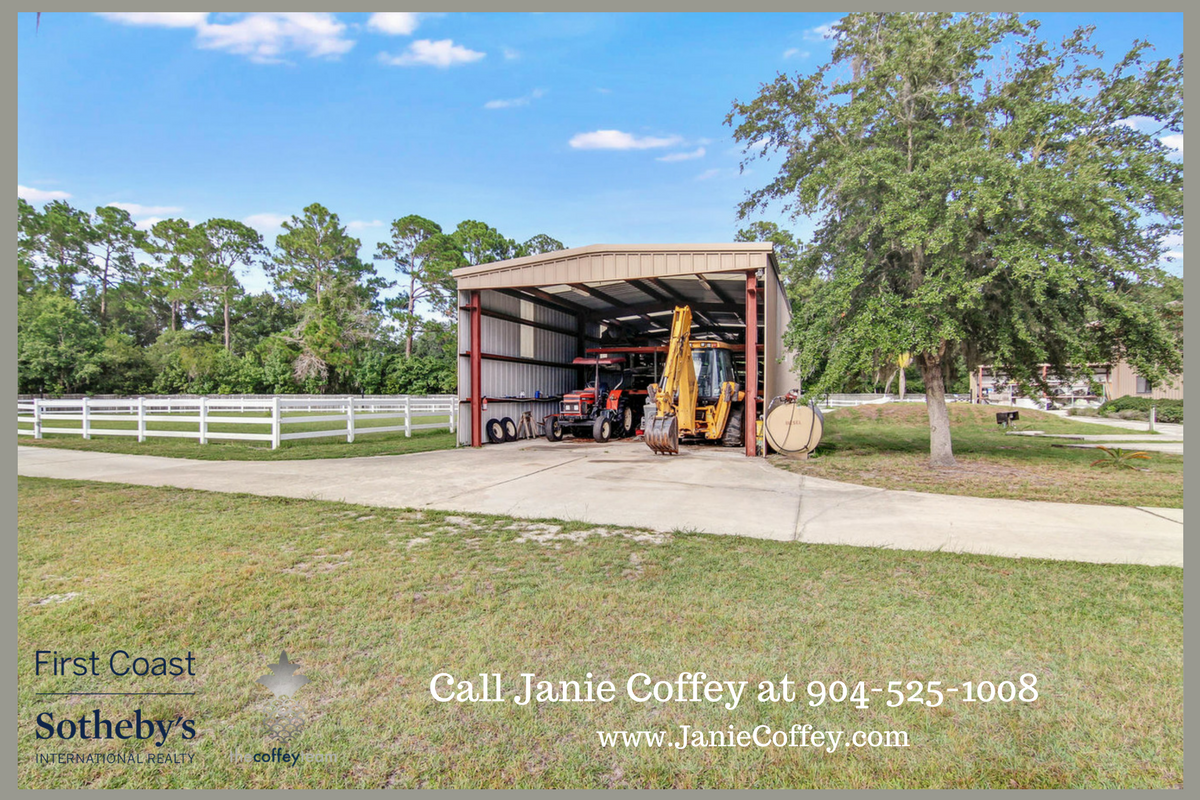 Luxury home in St. Augustine FL-  Experience the great life in this horse farm for sale in St. Augustine.