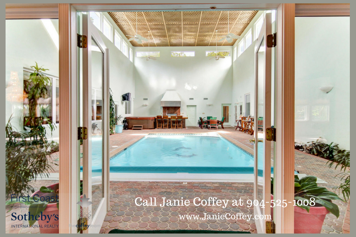 St. Augustine FL luxury home- Go straight for a swim anytime of the day in this St. Augustine equestrian property.