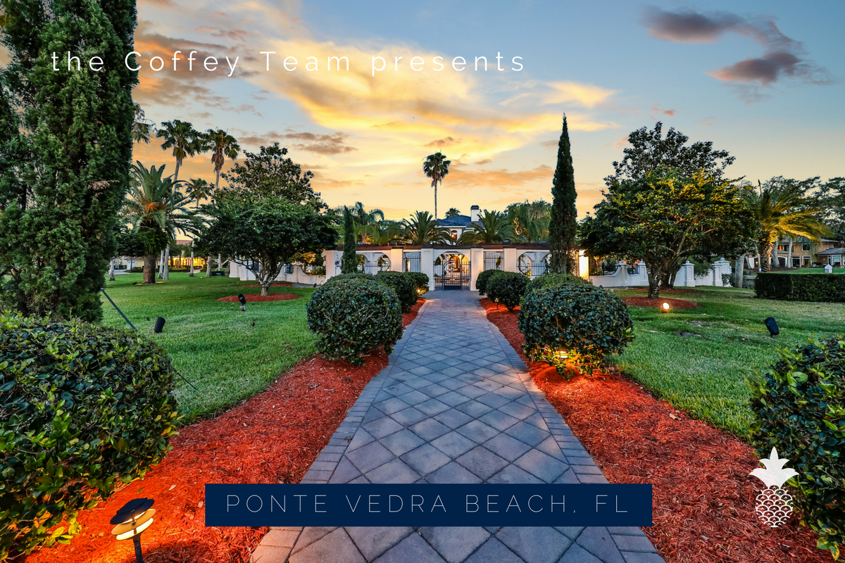 Ponte Vedra Beach FL real estate- This luxury home in Ponte Vedra Beach FL is perfect for comfortable living and grand entertaining.