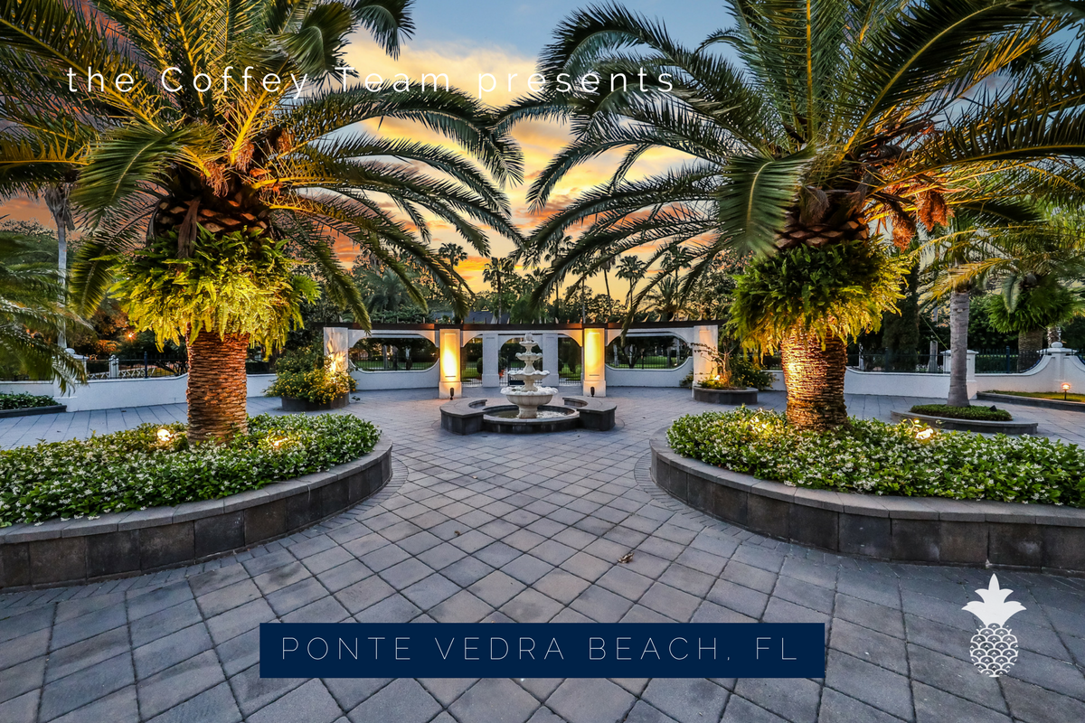 Ponte Vedra Beach FL luxury home- Invite your friends over for a get-together in the spacious courtyard of this luxury home in Ponte Vedra Beach FL.