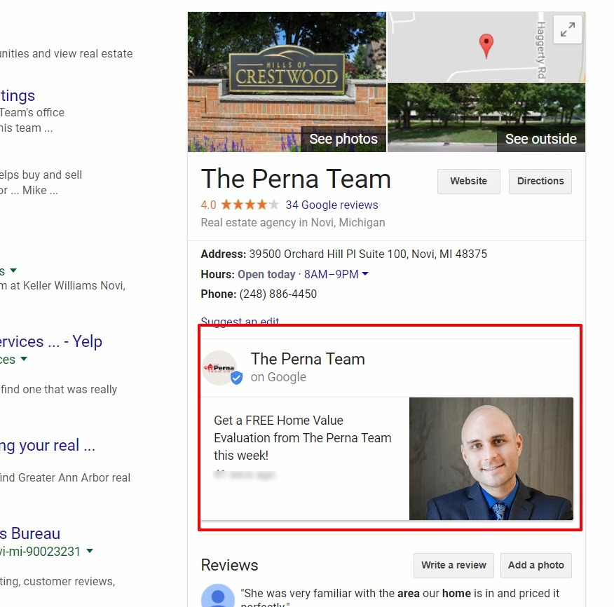 Google My Business Realtor