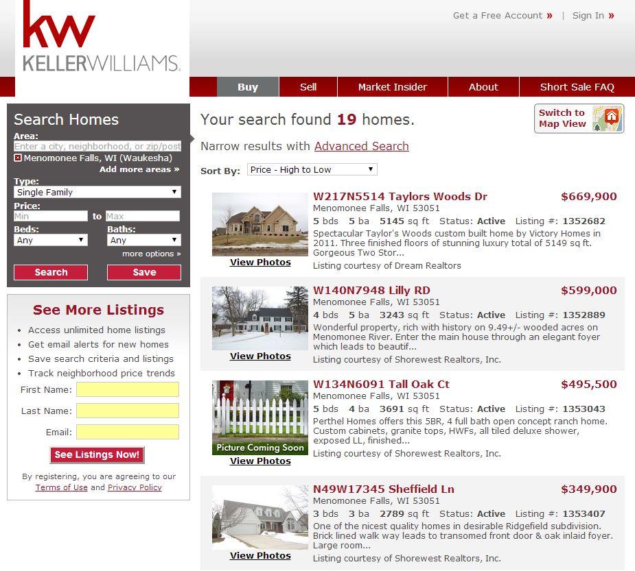 Homes for sale Menomonee Falls