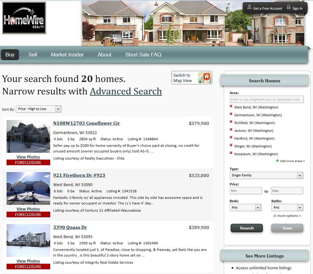 Washington County Foreclosure Search