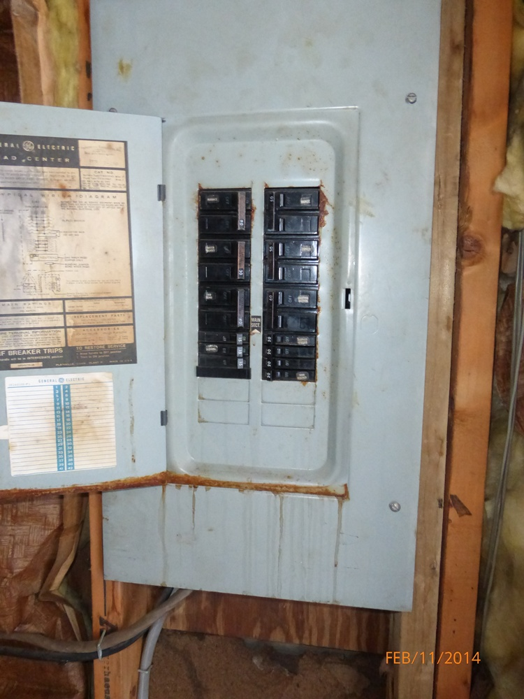 How Much Rust In An Electric Panel Box And Its Components