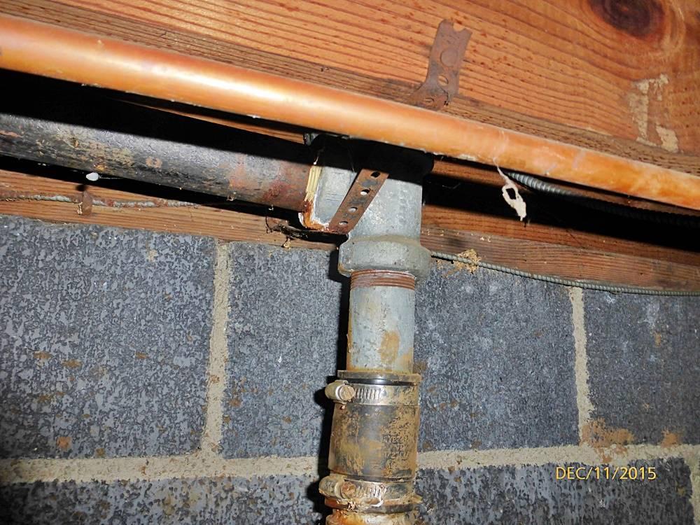 Galvanized plumbing for Crawl space plumbing
