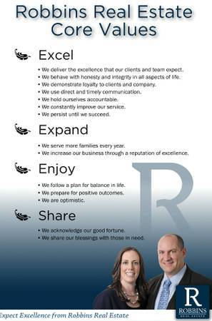 Robbins Real Estate Core Values