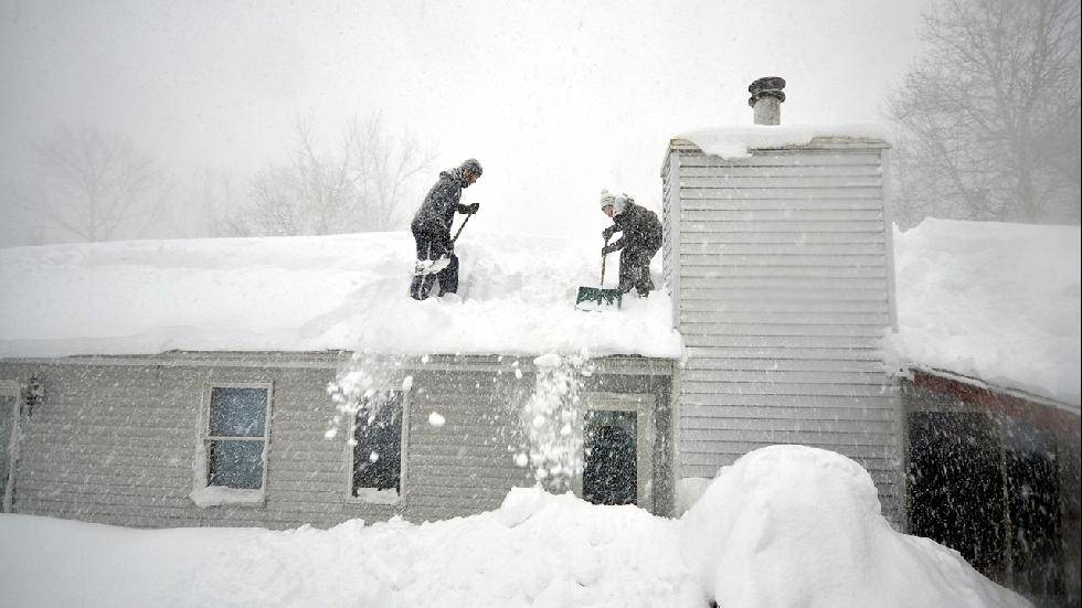 (John Normile/Getty Images)  Snowstorm