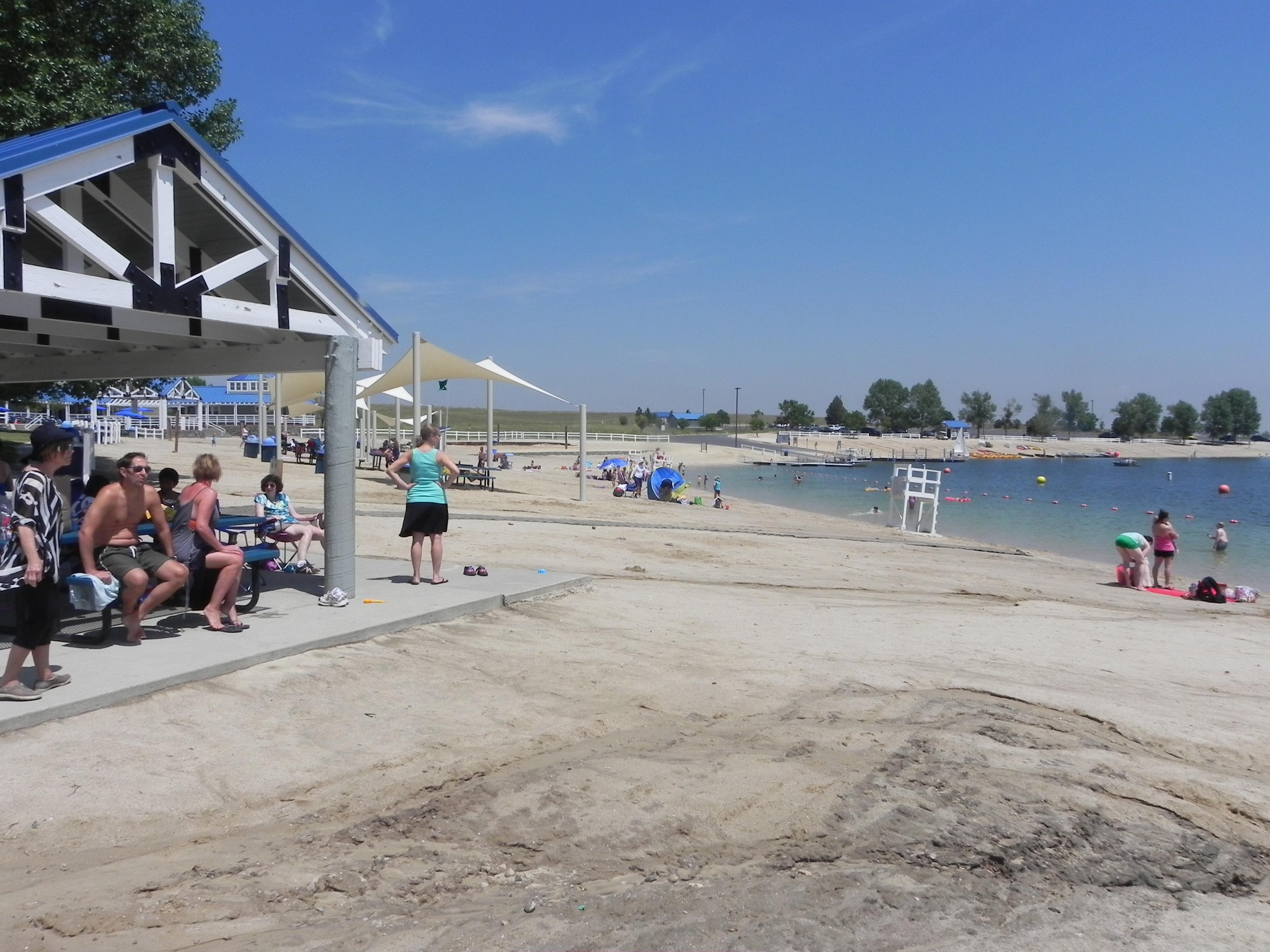 Aurora Reservoir beach