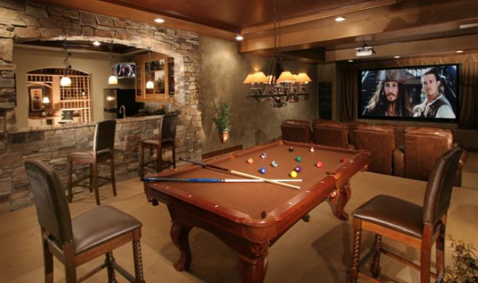 You can find wet bars exercise rooms media rooms wine cellars 2nd kitchens and rooms for pool tables. Need a room for the  boys  to watch their games? & Q u0026 A - What is the meaning of Walk-out Garden or Cellar Basements