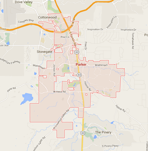 Map of Parker CO