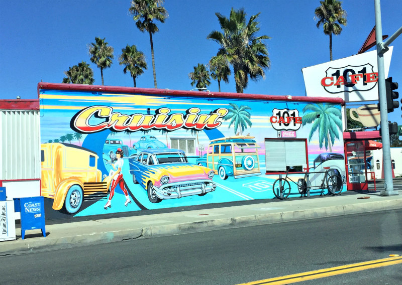 Wall Mural At The 101 Cafe In Oceanside Ca