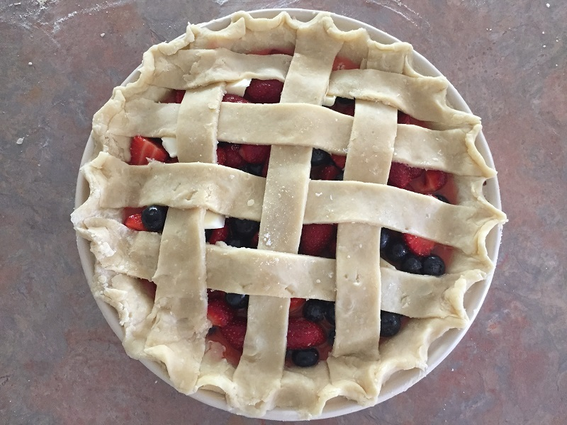 Home-made Berry Lattice Pie