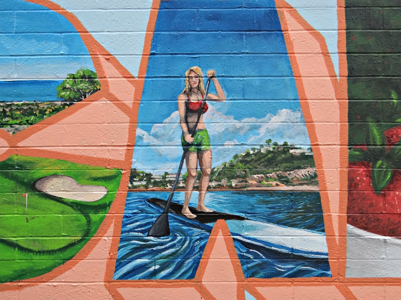 Colors of Carlsbad art wall mural