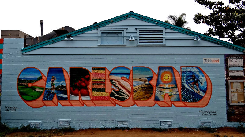 Colors of Carlsbad wall mural