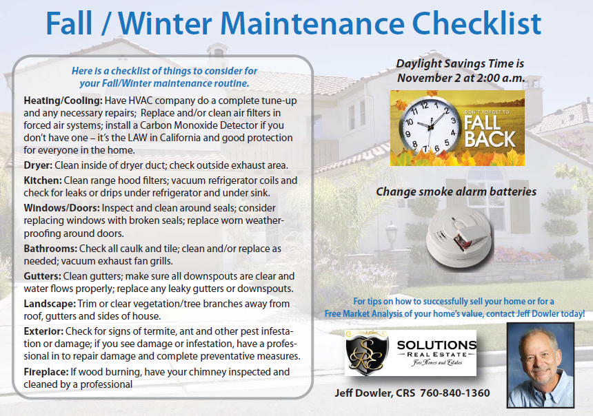 Fall Home Maintenance Tips fall/winter maintenance tips and daylight savings time
