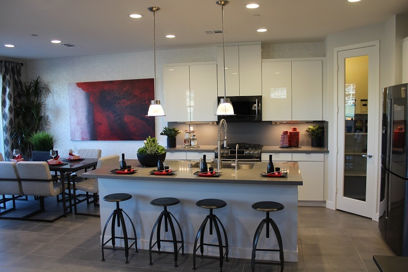 Kitchen at the town homes at Agave in The Preserve
