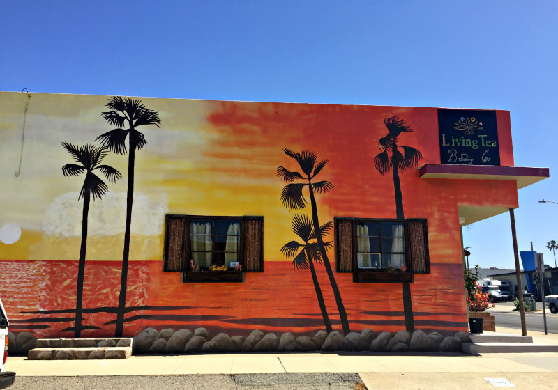 wordless wednesday oceanside wall mural