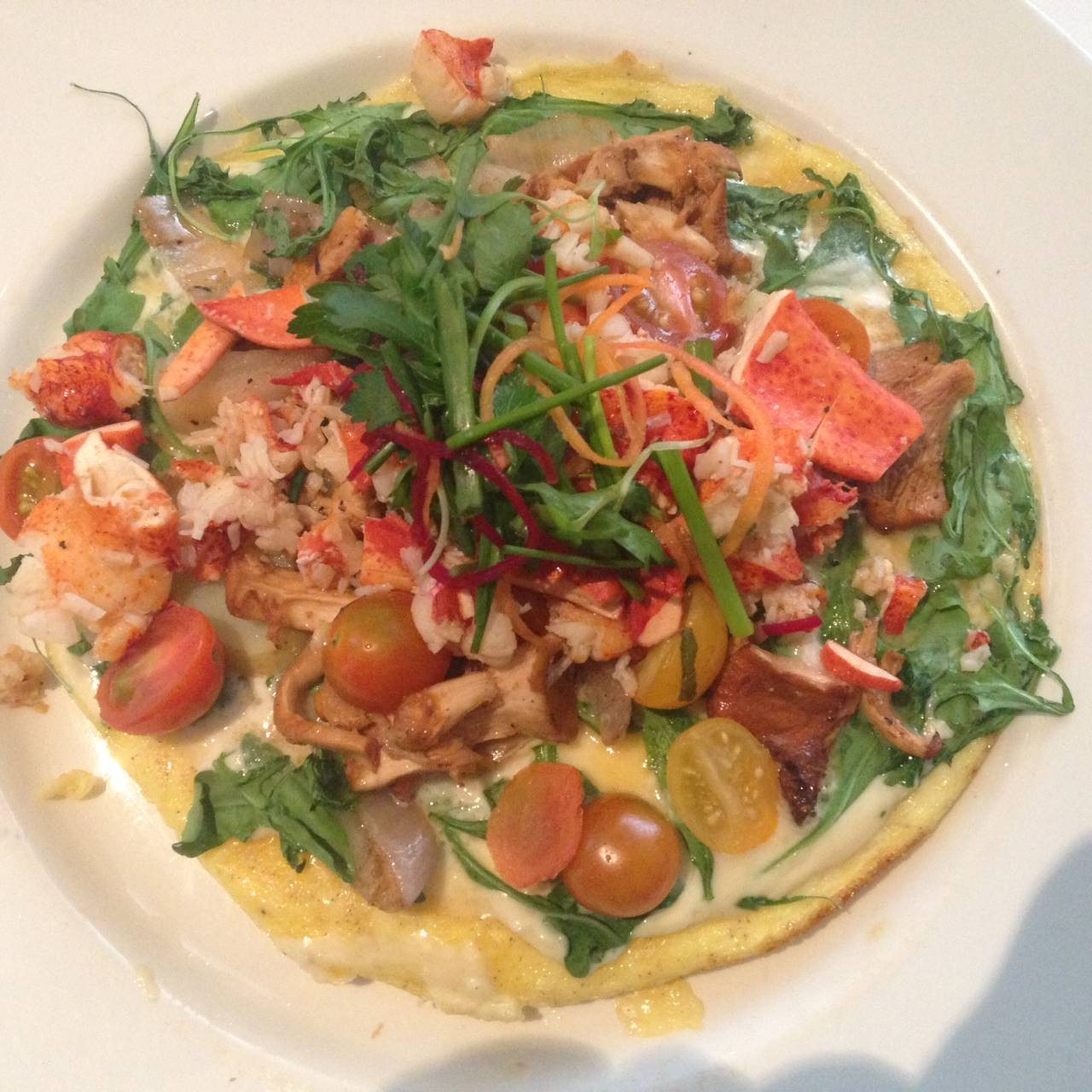 Lobstet and Brie Frittata for brunch at the Commander's Palace in New Orleans LA
