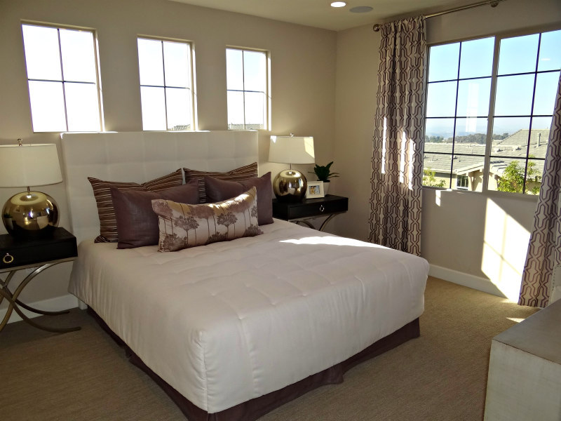Master bedroom in Lucero model home