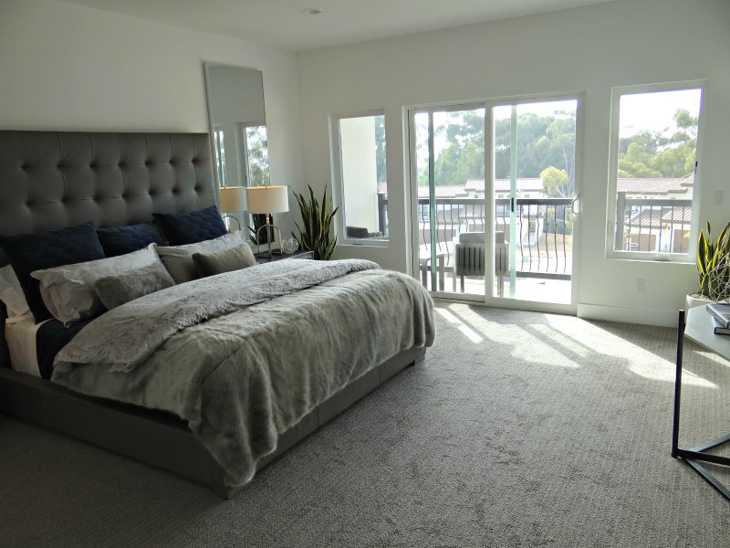 Master Bedroom at Trails End in Carlsbad