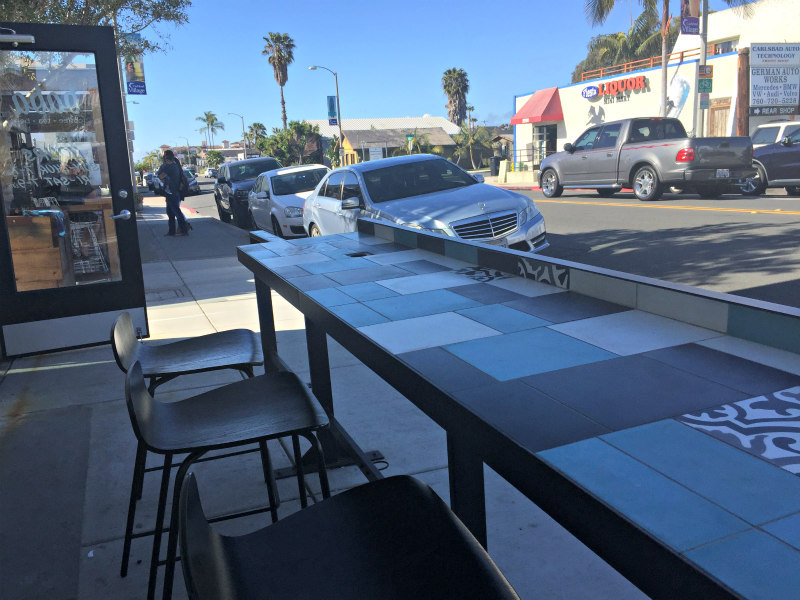 outdoor seating at Baba in Carlsbad Village