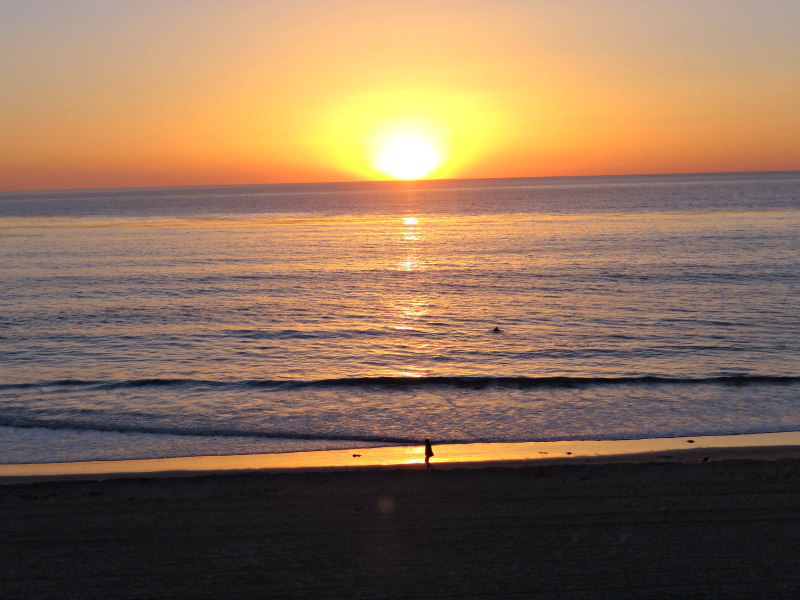 Sunset in Carlsbad at the beach
