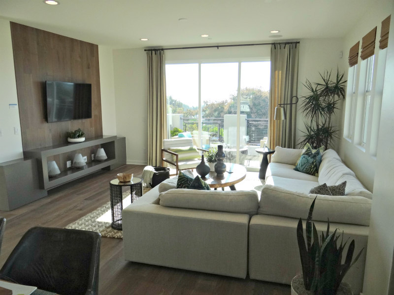 Living Room in Townhome at Kensington at the Square in Carlsbad