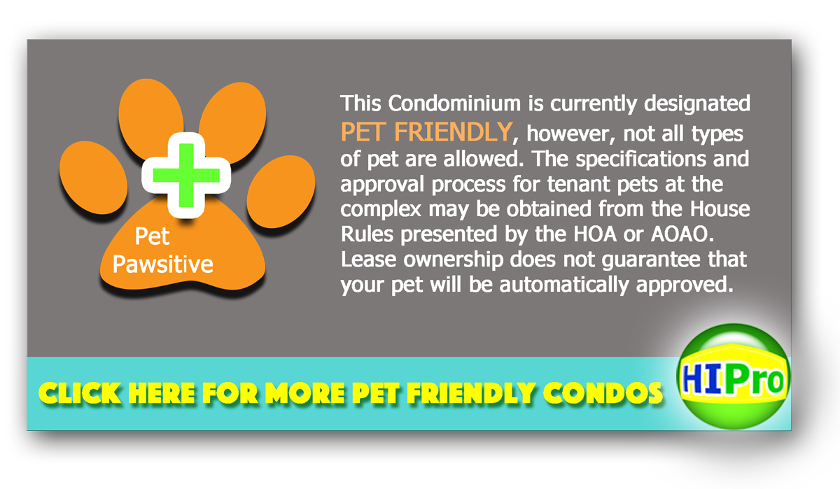 Honolulu Pet Friendly Condos - HI pro Realty LLC