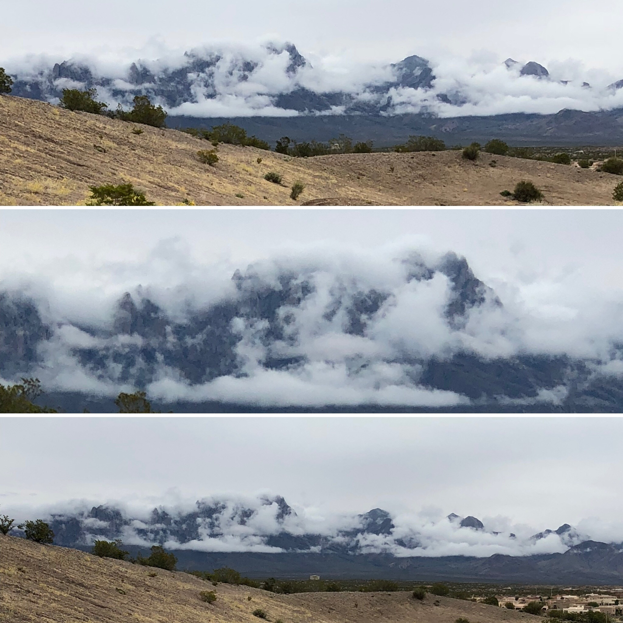 image of clouds covering organ mountains