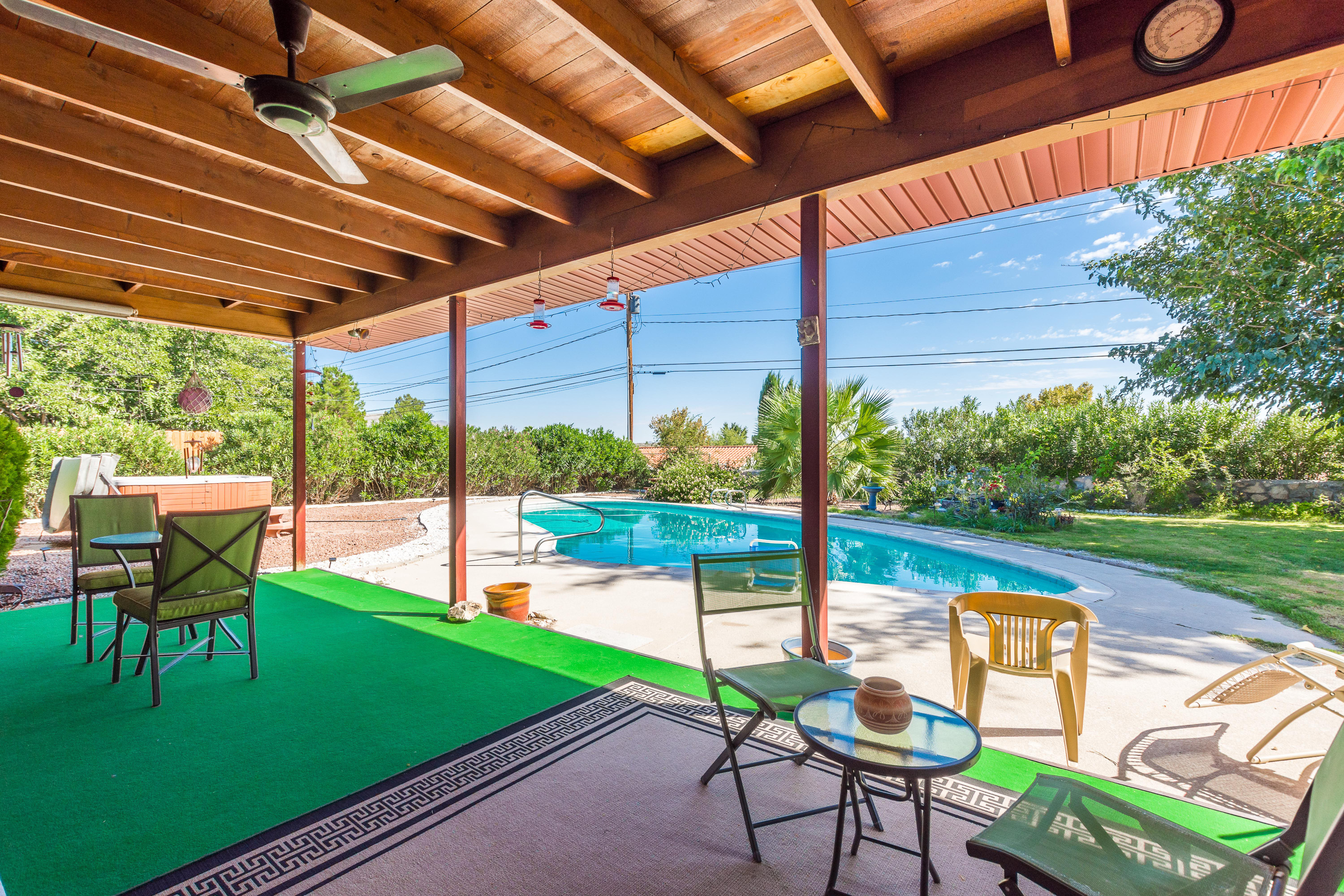 image of patio and pool fairway drive