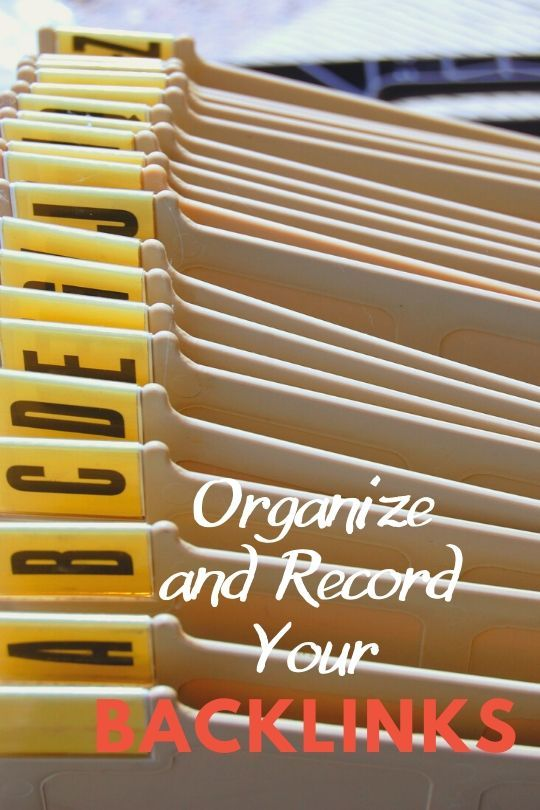 Organize and record backlinks