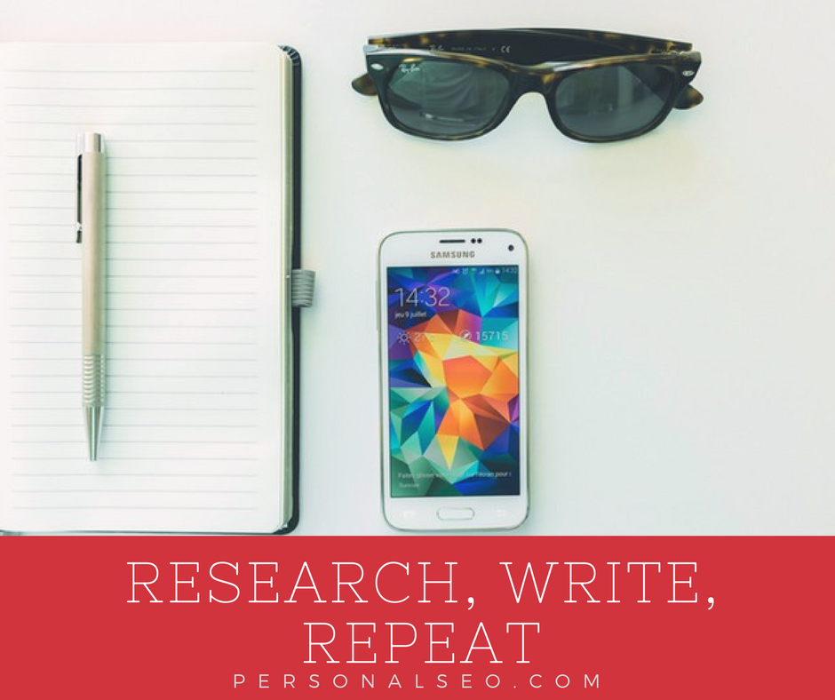 Research, blog, promote repeat