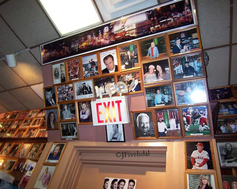 Wall at Carnegie Deli