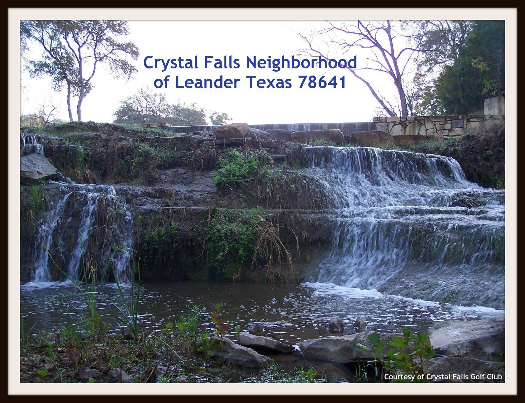 Crystal falls neighborhood in leander tx 78641 zip code Crystal falls